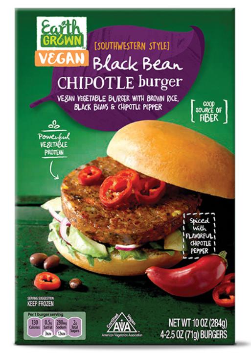 Aldi's Grown Vegan Black Bean Chipotle Burger