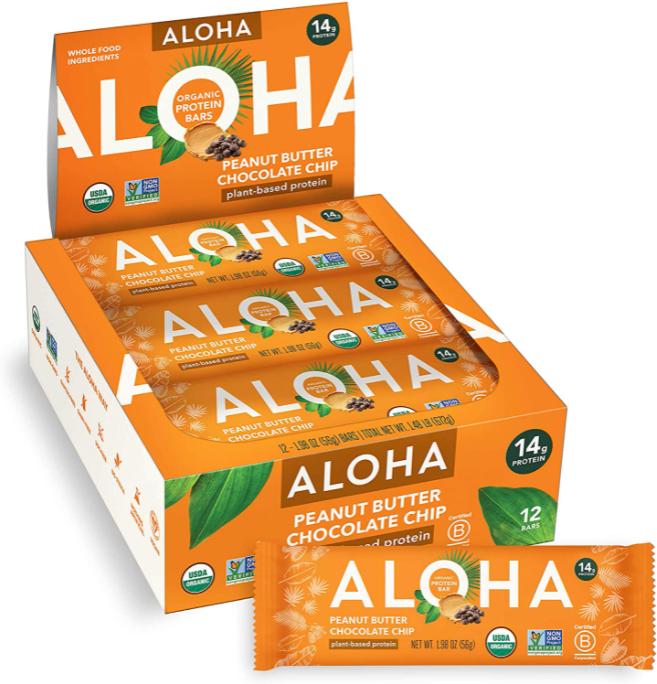 Aloha's Organic Plant Based Protein Bars
