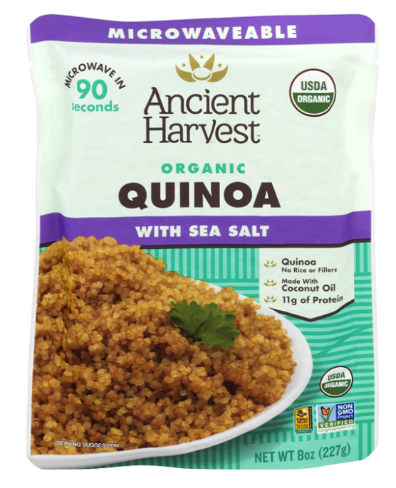 Ancient Harvest's Certified Microwavable Quinoa Pouch