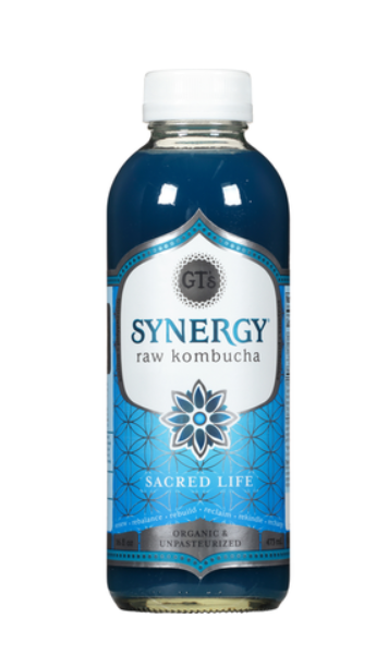 GT's Synergy Raw Kombucha Sacred Life