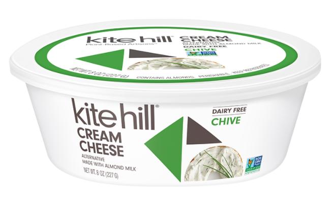 Kite Hill's Dairy Free Chive Cream Cheese